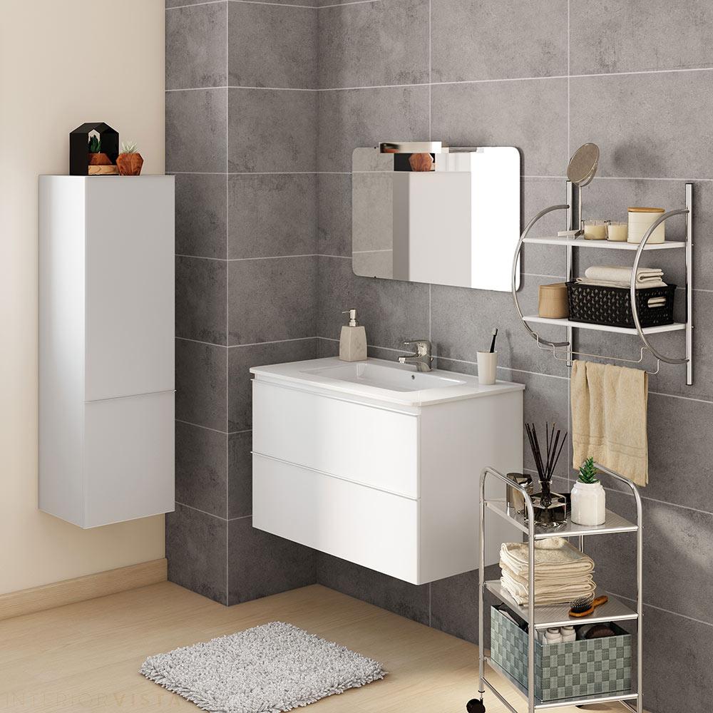 Conjunto de mueble de lavabo bend ref 17936996 leroy merlin for Conjunto mueble lavabo