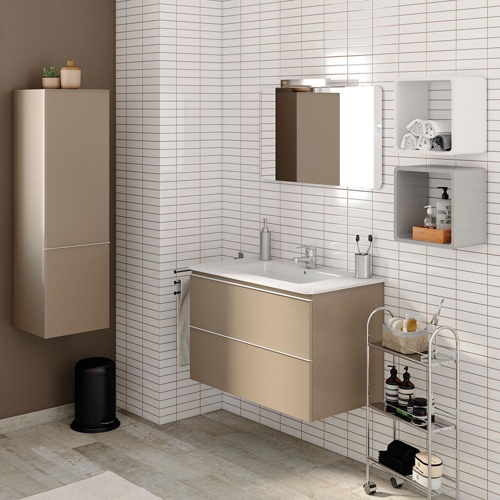 Conjunto de mueble de lavabo bend ref 17937003 leroy merlin for Conjunto mueble lavabo