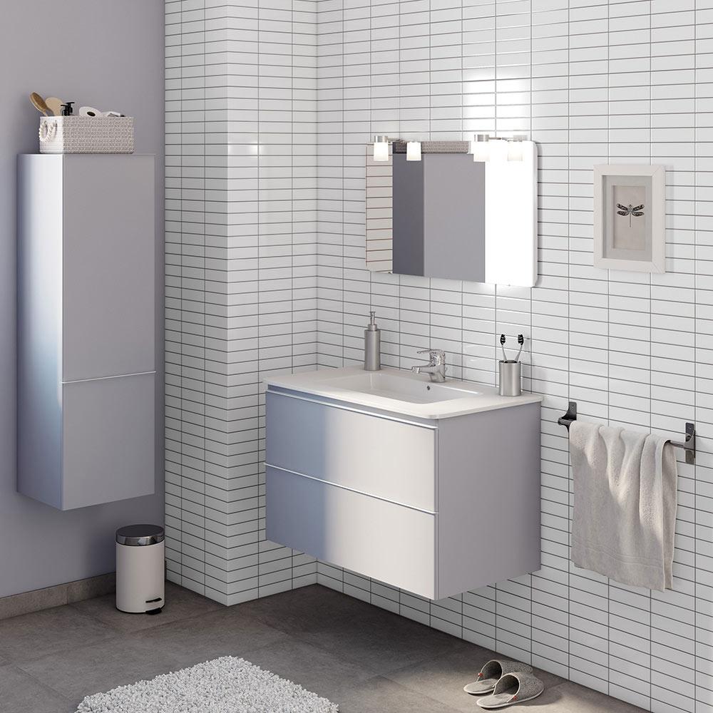Conjunto de mueble de lavabo bend ref 17937031 leroy merlin for Conjunto mueble lavabo