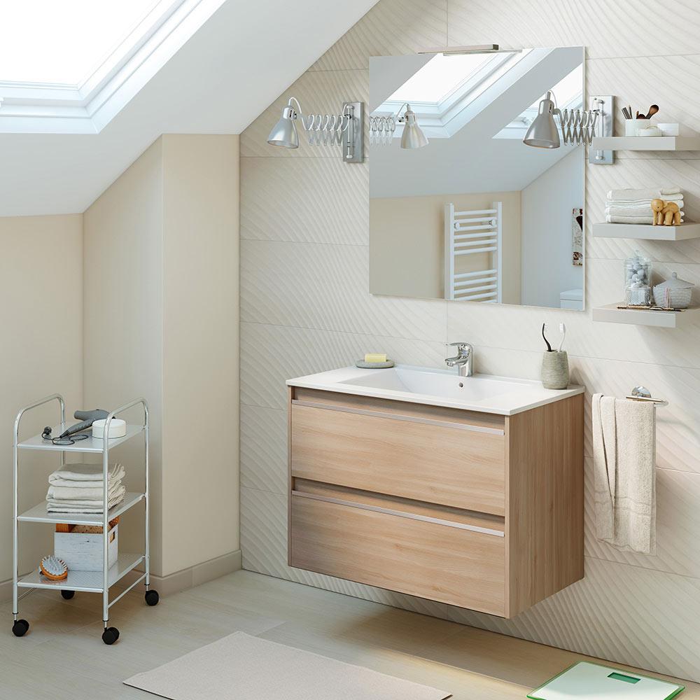 Mueble de lavabo beta ref 6005 81943552 leroy merlin for Lavabo leroy merlin
