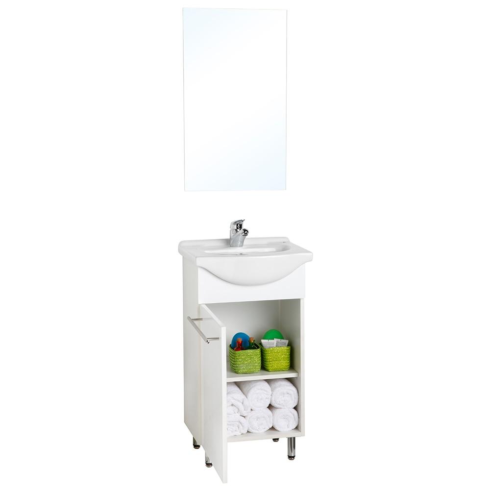 Conjunto de mueble de lavabo cecile ref 16569826 leroy - Muebles para lavabos leroy merlin ...