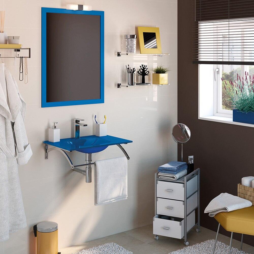 Conjunto de mueble de lavabo coco ref 16760562 leroy merlin for Conjunto mueble lavabo