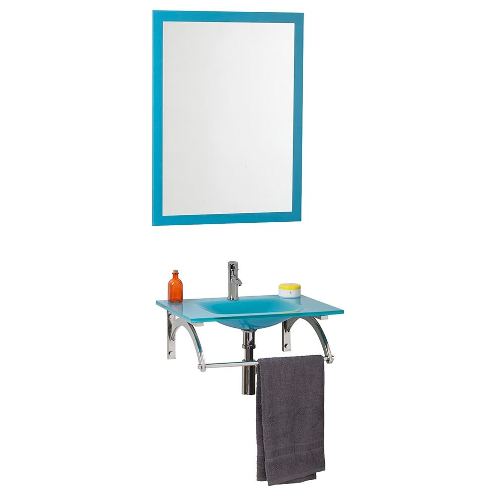 Mueble Baño Turquesa:Conjunto de mueble de lavabo COCO Ref 16760576 – Leroy Merlin