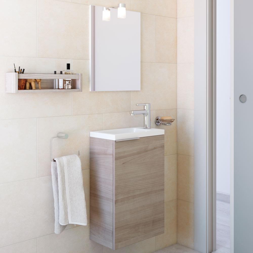 Conjunto de mueble de lavabo compac ref 18032322 leroy for Lavabo mueble pequeno