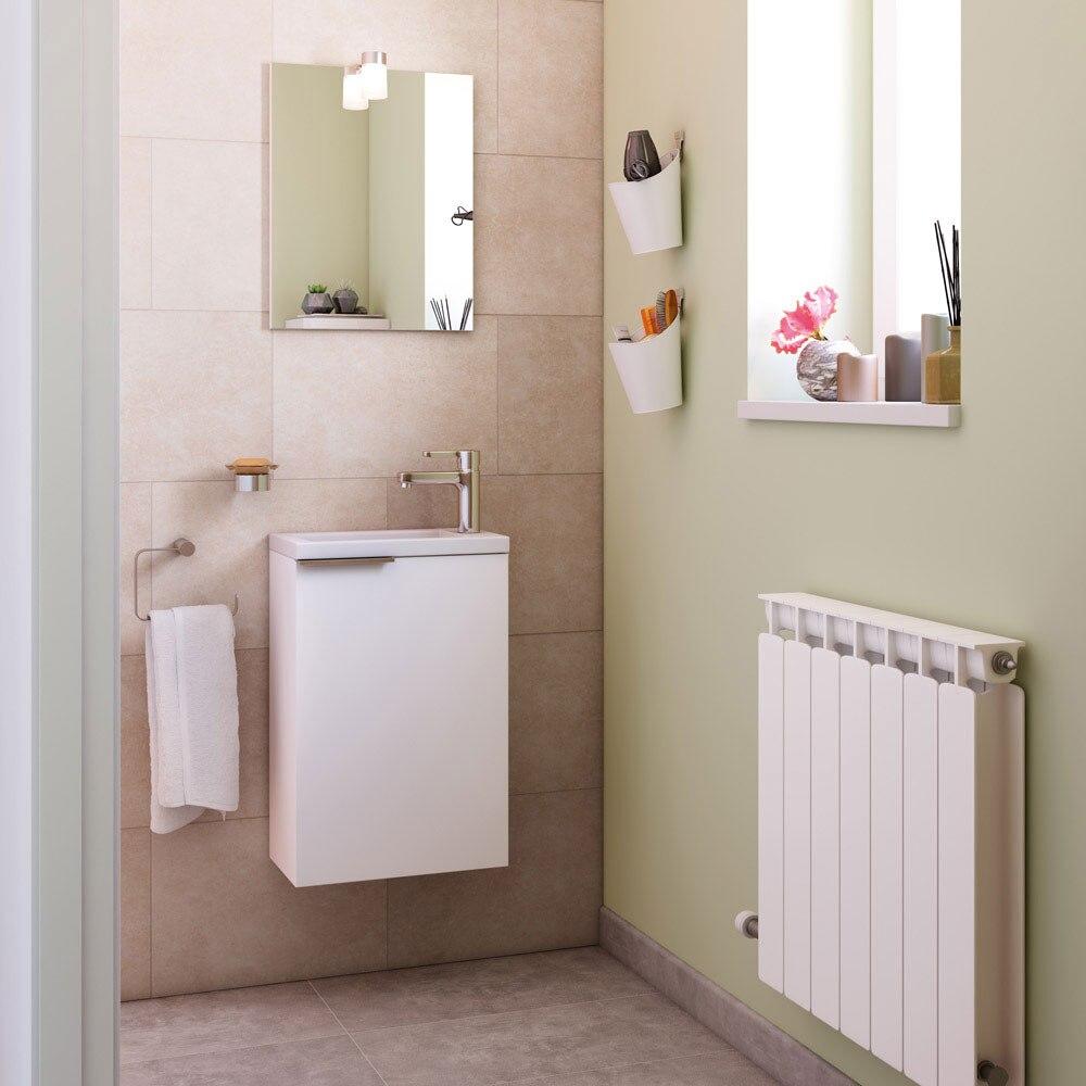 Conjunto de mueble de lavabo compac ref 18032336 leroy - Mueble lavabo pequeno ...