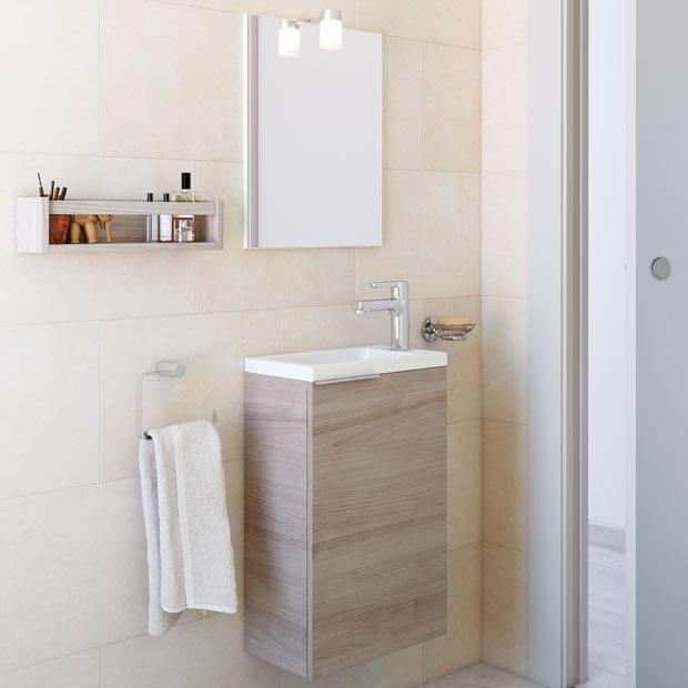 Muebles de lavabo leroy merlin for Lavabos pequenos con mueble