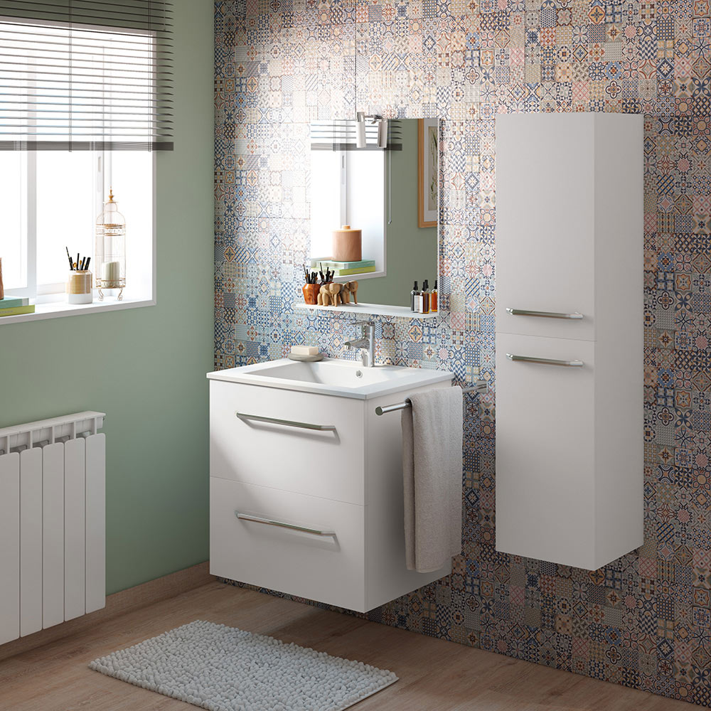 Mueble de lavabo dado ref 18104296 leroy merlin - Muebles de resina leroy merlin ...