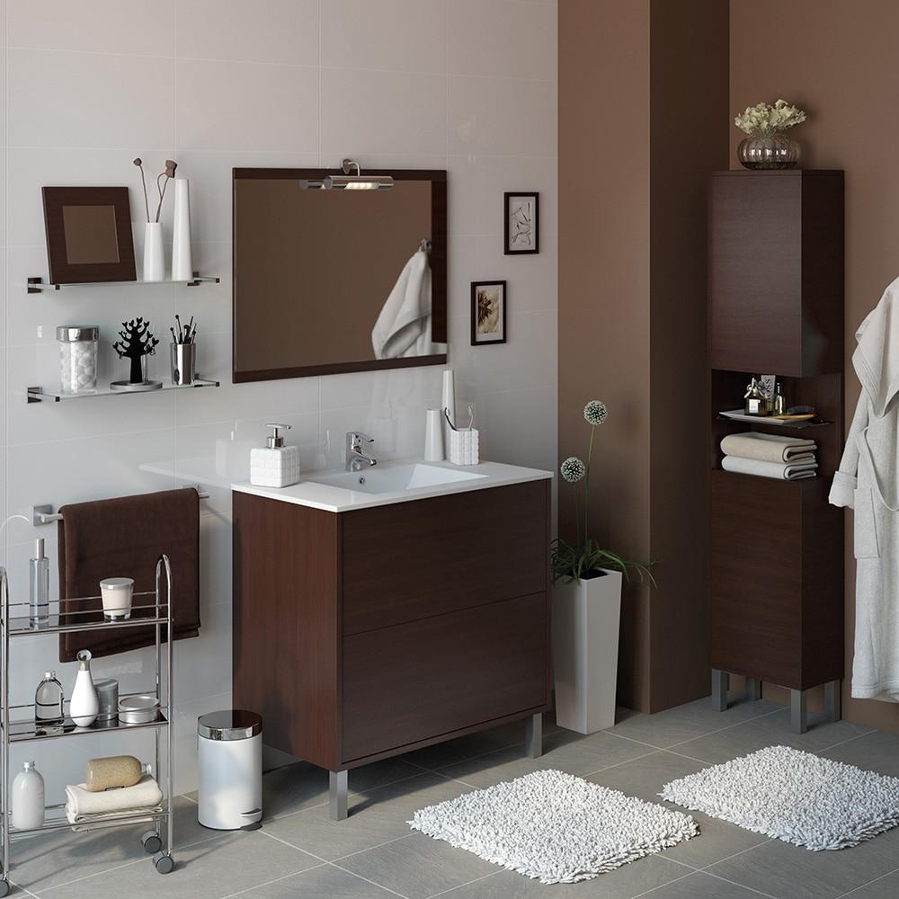Conjunto de mueble de lavabo dakota ref 14989345 leroy - Lavabo sur colonne leroy merlin ...