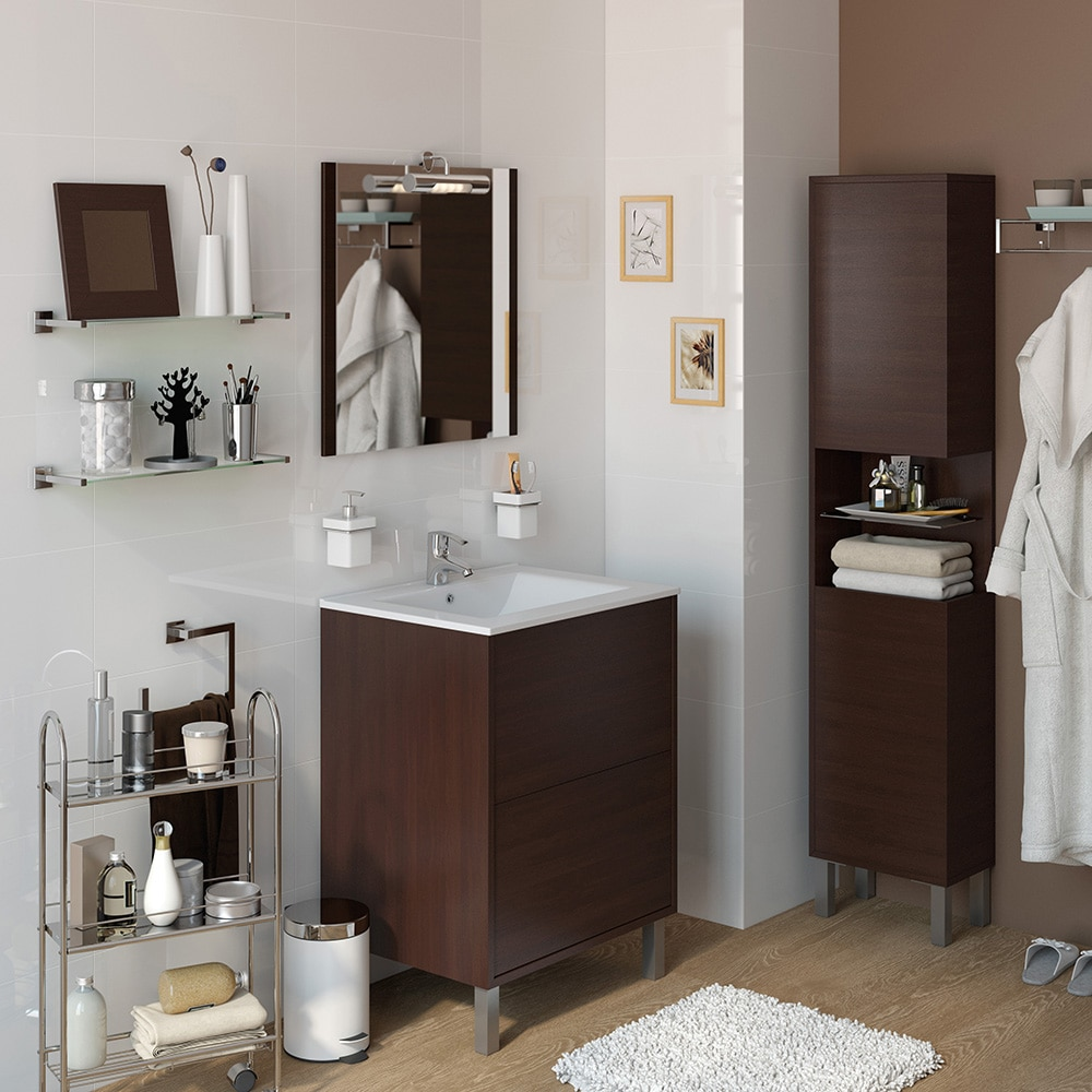 Conjunto de mueble de lavabo dakota ref 15471162 leroy for Mueble zapatero leroy merlin