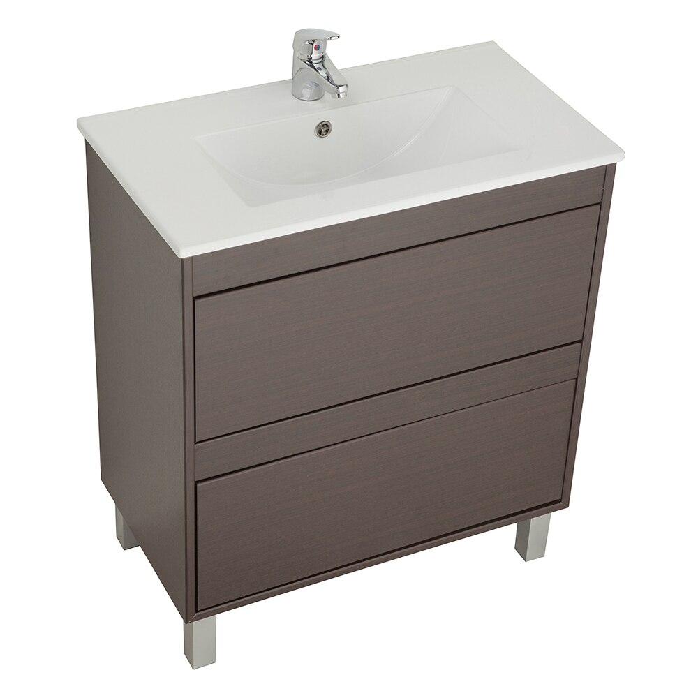 Conjunto de mueble de lavabo dakota ref 16684031 leroy for Mueble lavabo fondo reducido