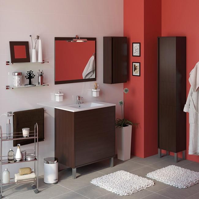 Conjunto de mueble de lavabo dakota ref 16684031 leroy for Conjunto mueble lavabo