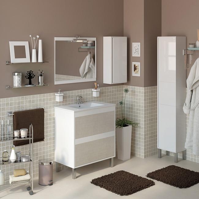 Conjunto de mueble de lavabo dakota ref 16684066 leroy merlin - Muebles de resina leroy merlin ...