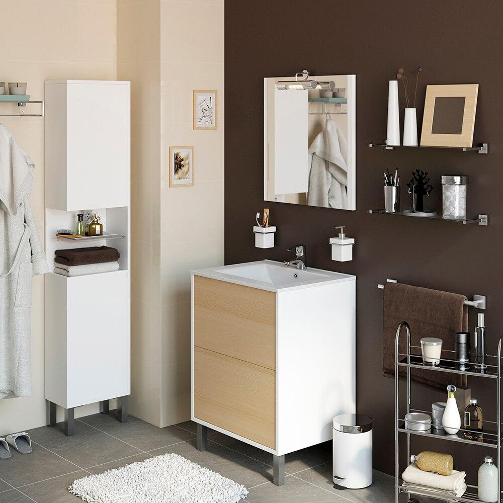 Conjunto de mueble de lavabo dakota ref 17337922 leroy for Conjunto mueble lavabo