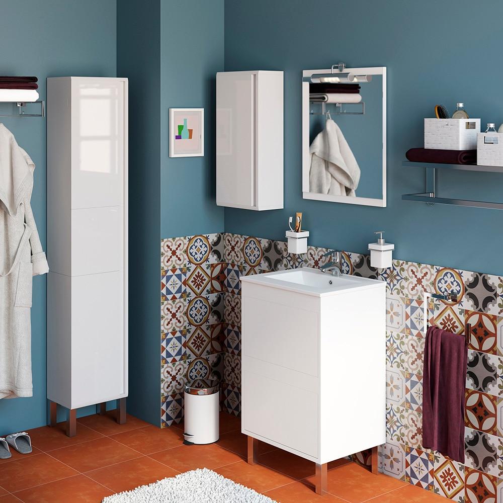 Conjunto de mueble de lavabo dakota ref 17337992 leroy for Conjunto mueble lavabo