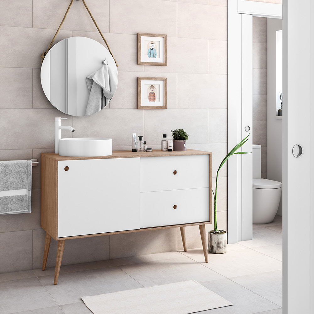 Mueble de lavabo danes ref 19413583 leroy merlin for Mueble para microondas leroy merlin
