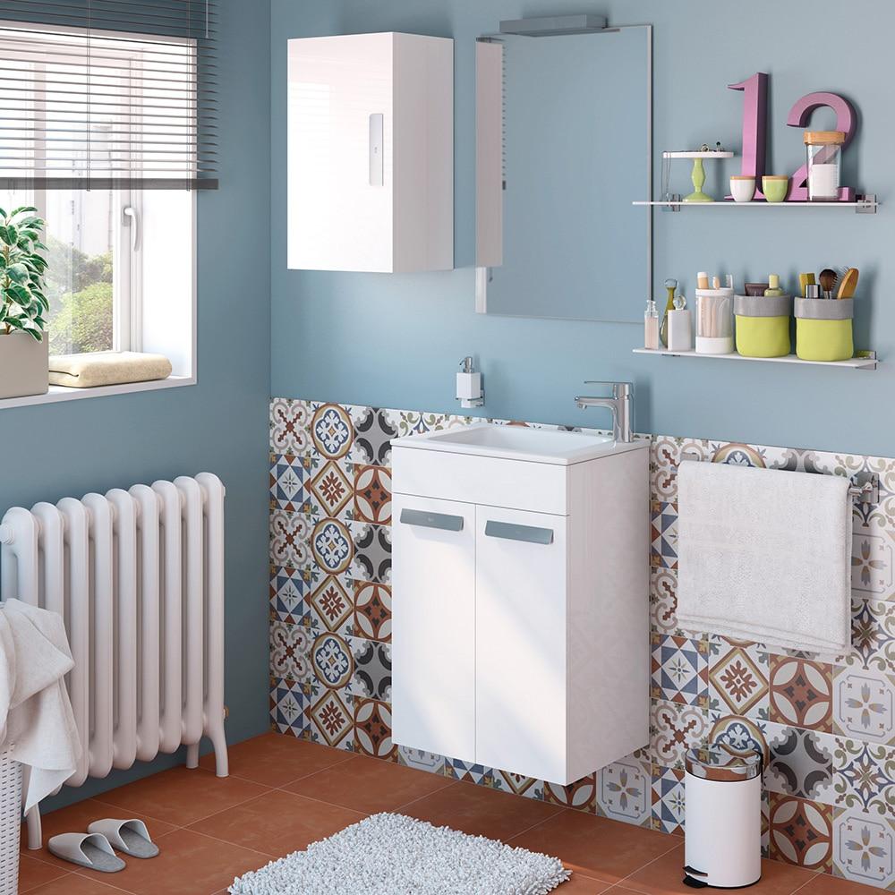 Conjunto de mueble de lavabo debba ref 16859836 leroy for Conjunto mueble lavabo