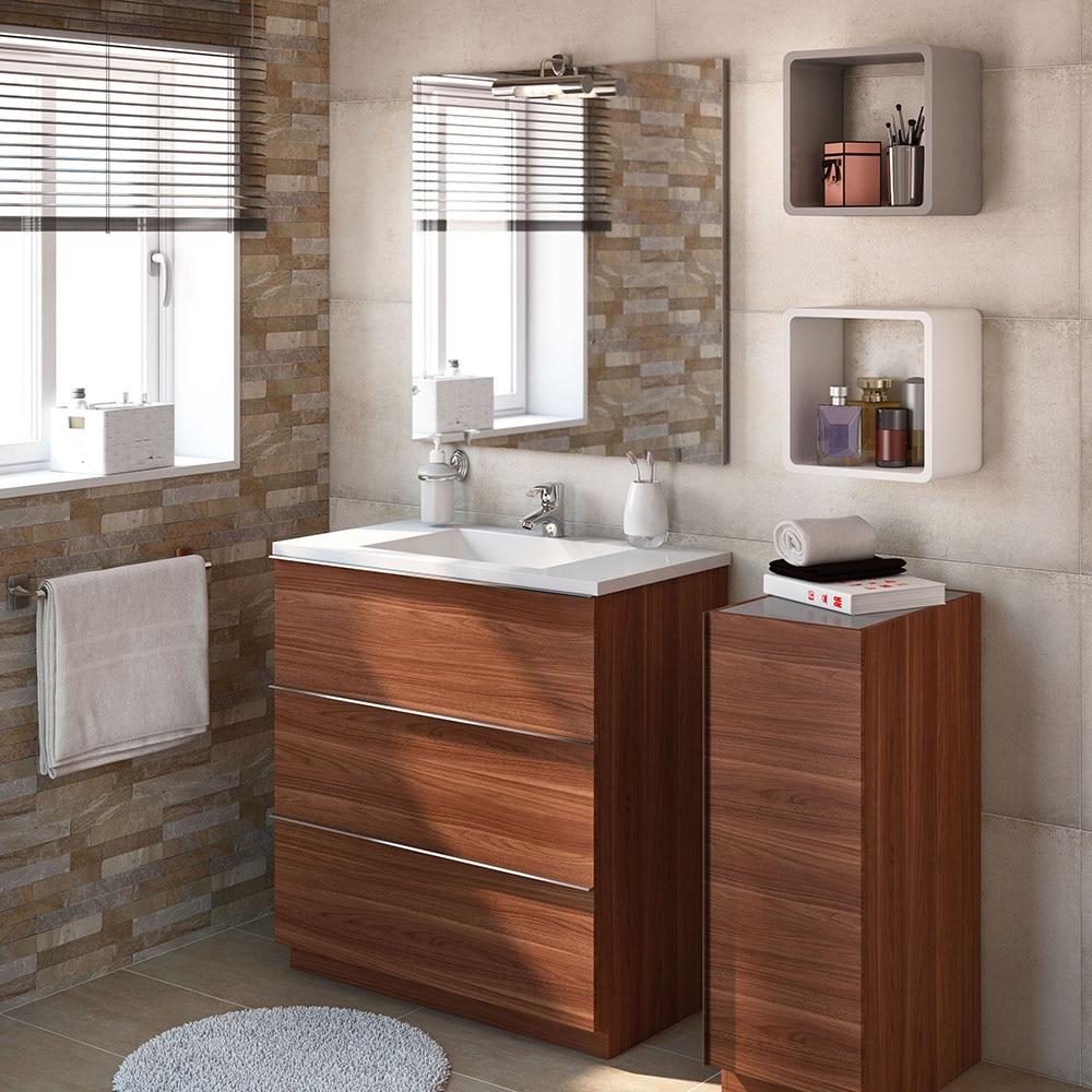 Mueble de lavabo discovery ref 17359755 leroy merlin for Mueble lavabo pie leroy merlin