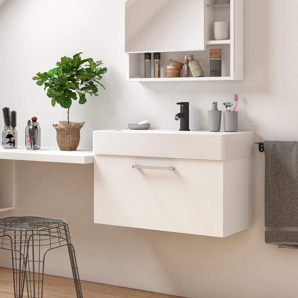 Conjunto de mueble de lavabo easy ref 6005 81953030 for Lavabo leroy merlin
