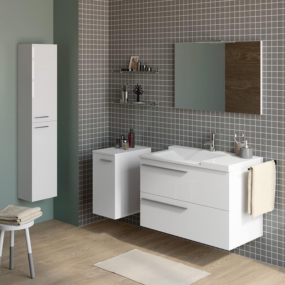 Mueble de lavabo elea ref 14991263 leroy merlin for Lavabo leroy merlin