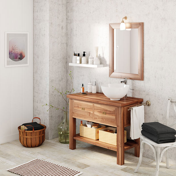 Muebles De Baño Con Espejo | Muebles De Lavabo Leroy Merlin