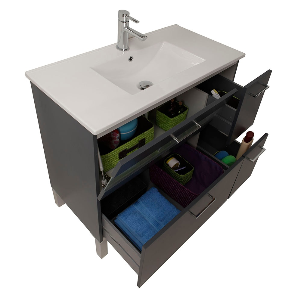 Mueble de lavabo fox ref 16729433 leroy merlin for Lavabo bajo encimera leroy merlin