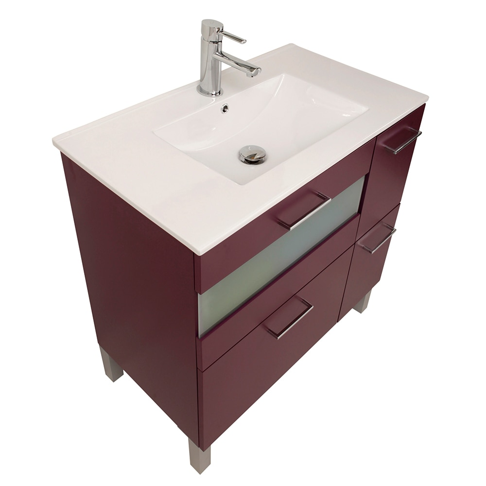 Mueble de lavabo fox ref 16729643 leroy merlin for Mueble fregadero leroy merlin