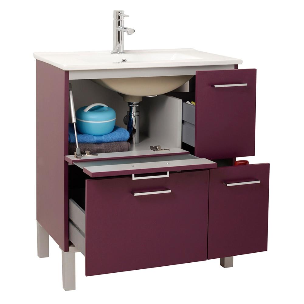 Mueble de lavabo fox ref 16729783 leroy merlin for Lavabo bajo encimera leroy merlin