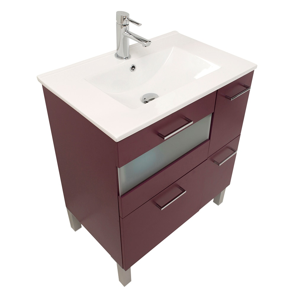 Mueble de lavabo fox ref 16729783 leroy merlin for Mueble archivador leroy merlin