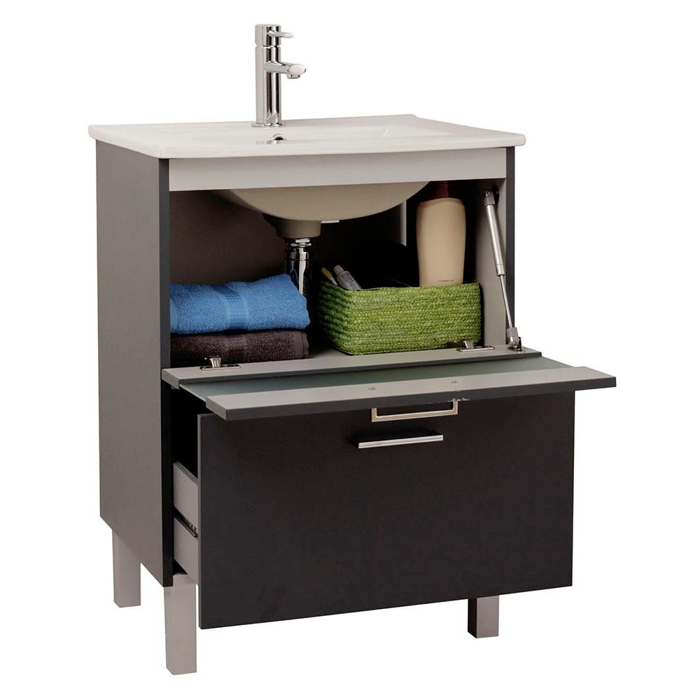 Mueble de lavabo fox ref 16729804 leroy merlin for Mueble microondas leroy merlin