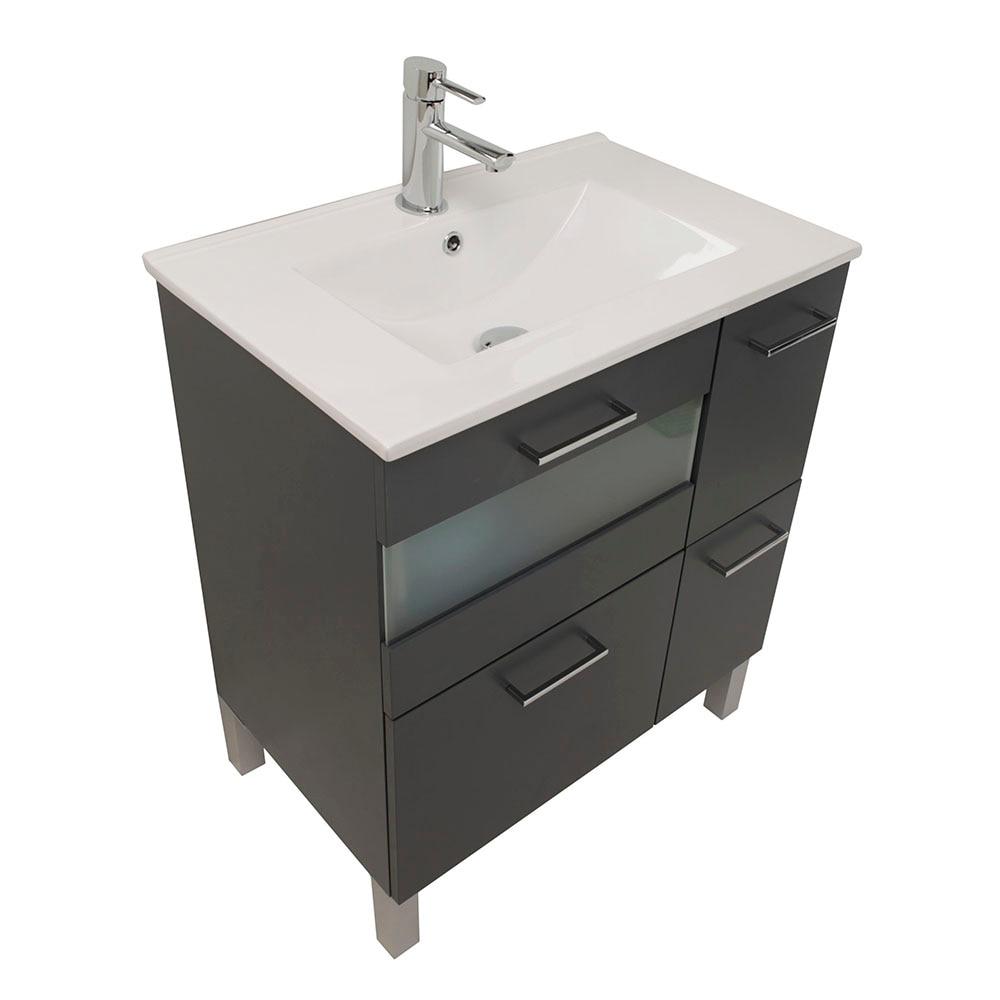 Mueble de lavabo fox ref 16729825 leroy merlin for Lavabo bajo encimera leroy merlin