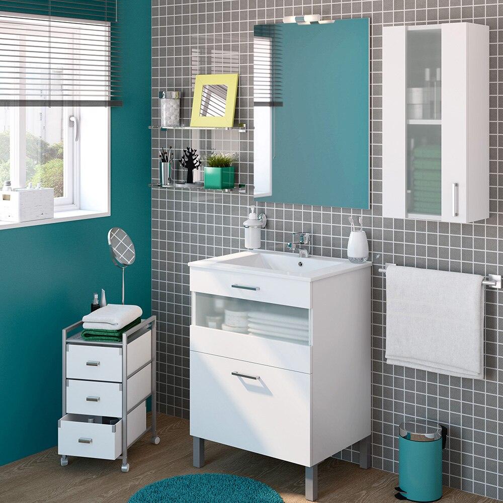 Mueble de lavabo fox ref 16729944 leroy merlin for Lavabo pequeno leroy merlin