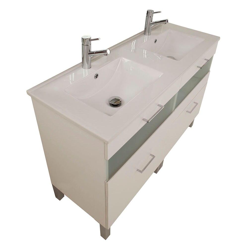 Mueble de lavabo fox ref 16729993 leroy merlin for Lavabo bajo encimera leroy merlin