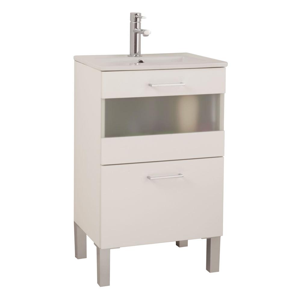 Mueble de lavabo fox ref 16732632 leroy merlin - Mueble lavabo pie leroy merlin ...