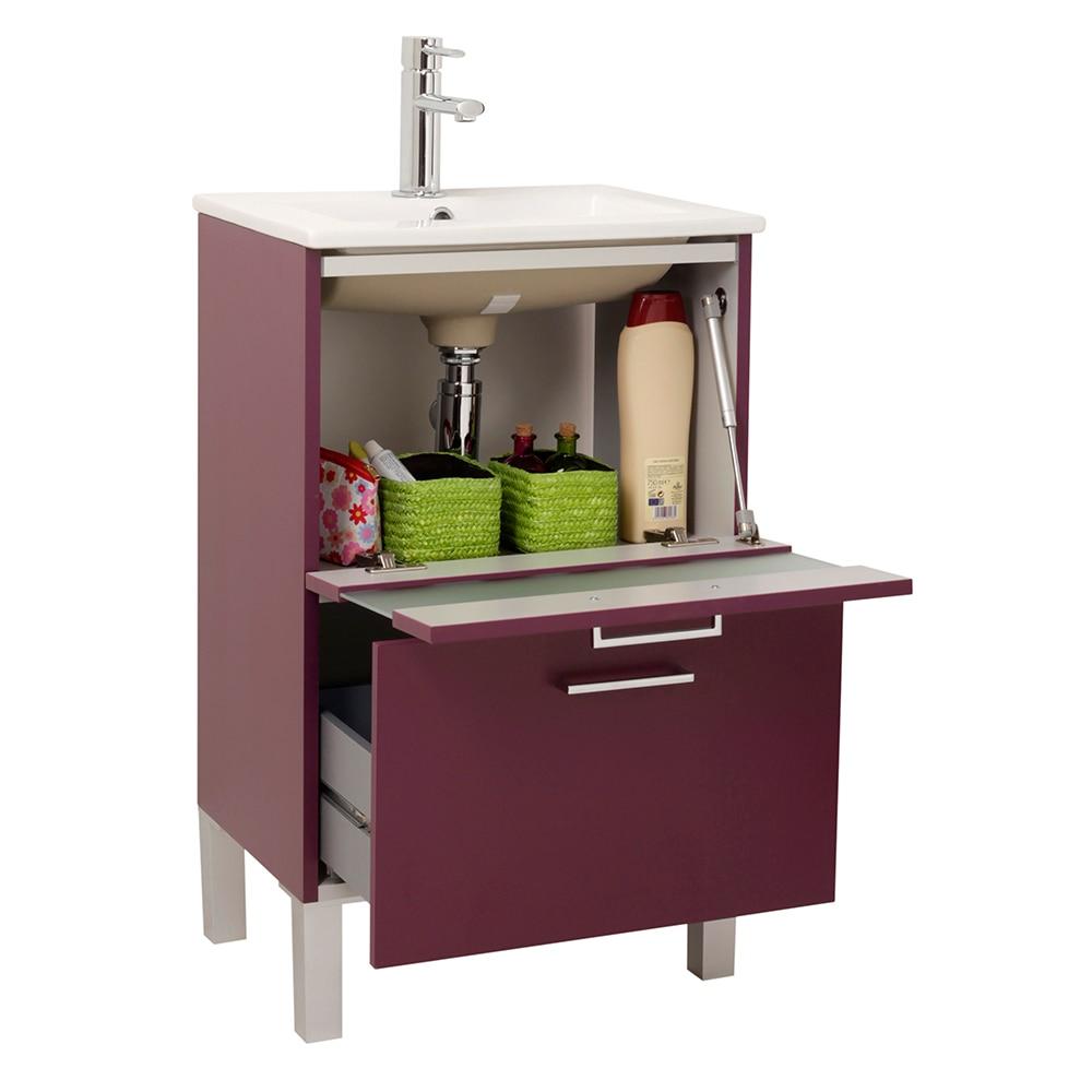 Mueble de lavabo fox ref 16732646 leroy merlin for Mueble lavabo