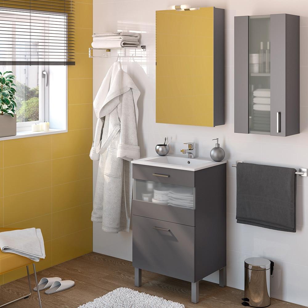 Mueble de lavabo fox ref 16732660 leroy merlin for Lavabo leroy merlin