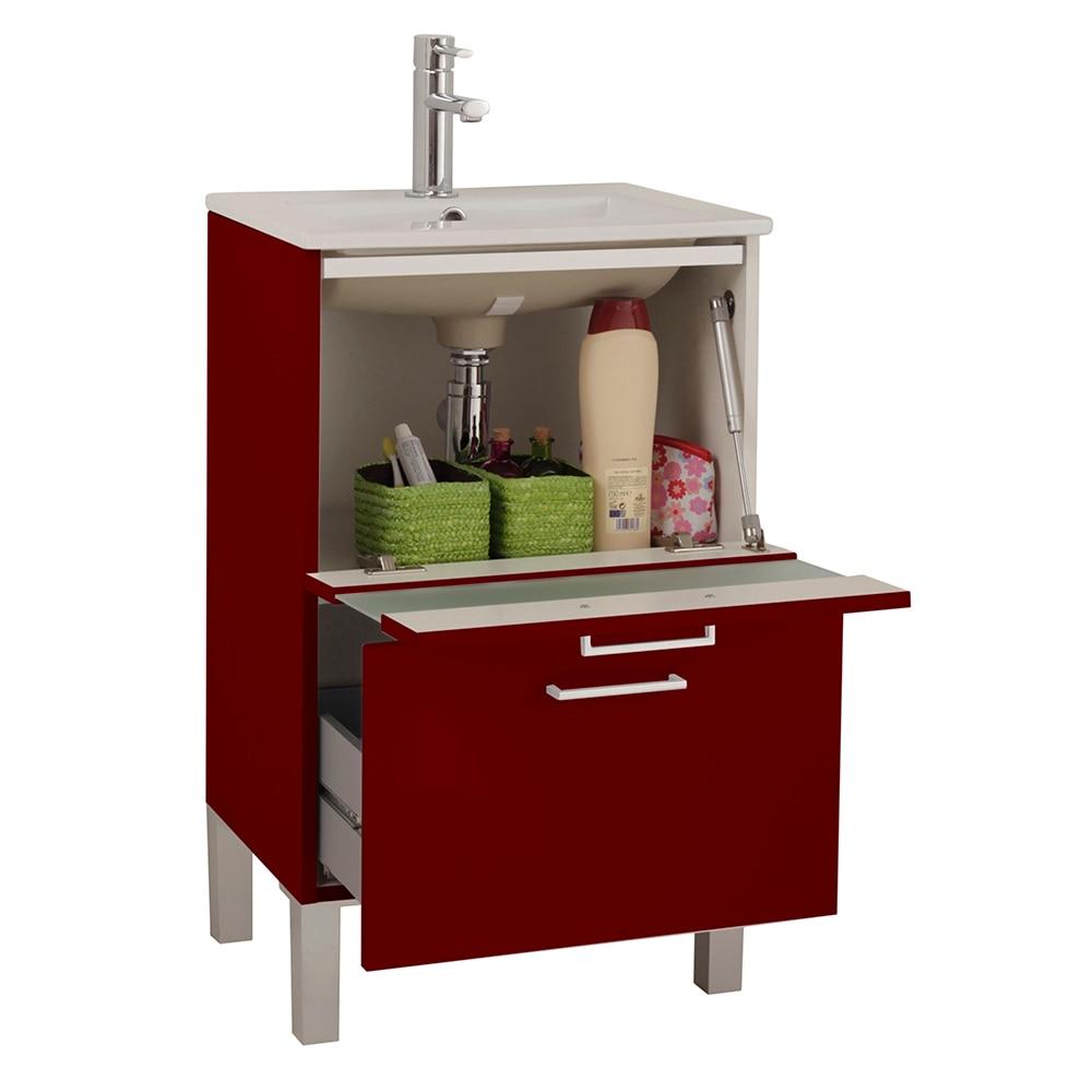 Mueble de lavabo fox ref 16732674 leroy merlin for Mueble auxiliar lavabo