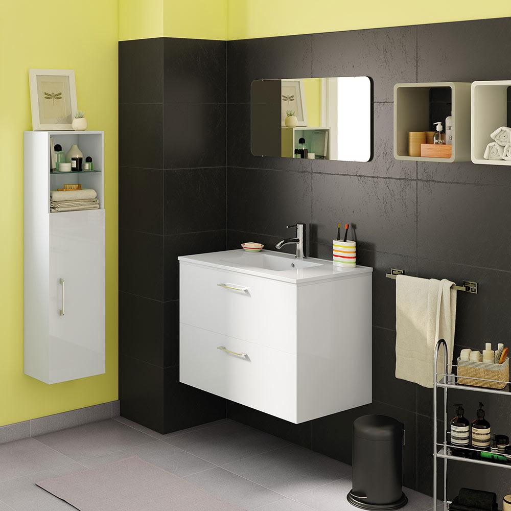 Mueble de lavabo happy ref 17935442 leroy merlin for Mueble microondas leroy merlin