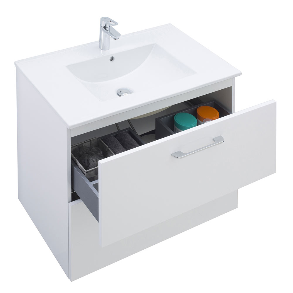 Mueble de lavabo happy ref 17935442 leroy merlin for Palets de plastico leroy merlin