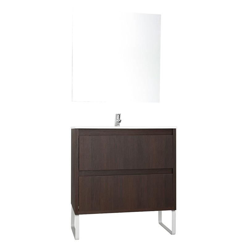 Conjunto de mueble de lavabo helix ref 17268580 leroy for Conjunto mueble lavabo