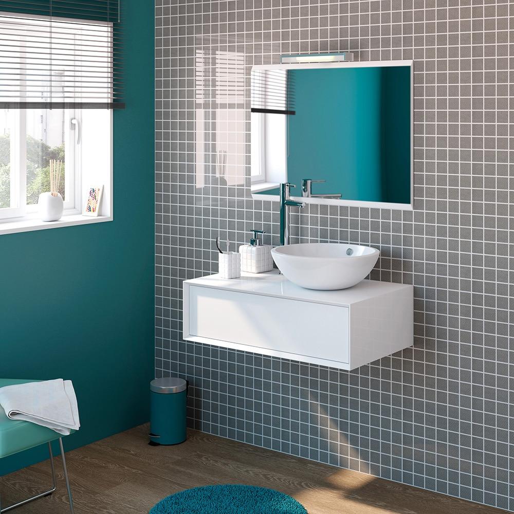 Mueble de lavabo illinois ref 15869896 leroy merlin for Lavabo pequeno leroy merlin