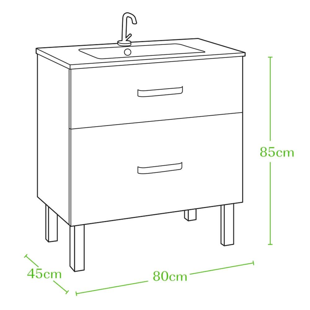 conjunto de mueble de lavabo invicta ref 18570930 leroy. Black Bedroom Furniture Sets. Home Design Ideas