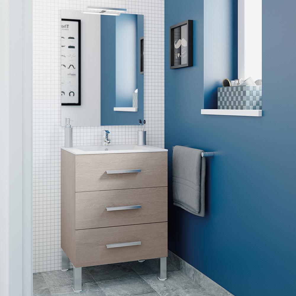Mueble de lavabo madrid ref 17984176 leroy merlin for Mueble auxiliar lavabo