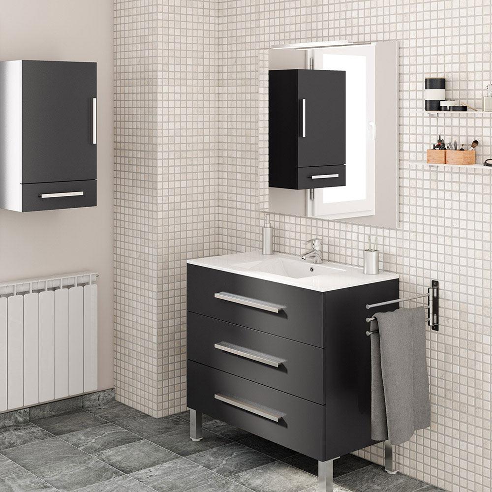 Mueble de lavabo madrid ref 17985912 leroy merlin for Mueble auxiliar lavabo