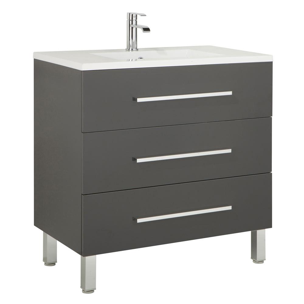 Mueble de lavabo madrid ref 17985912 leroy merlin - Mueble lavabo pie leroy merlin ...