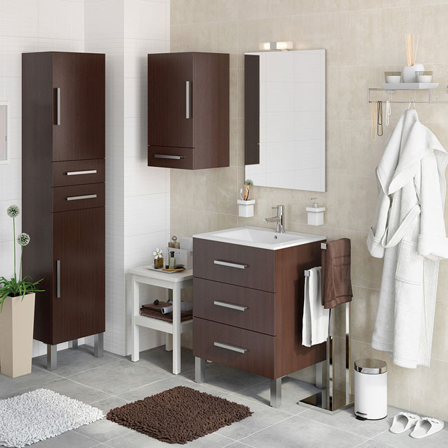 Mueble de lavabo madrid ref 18105360 leroy merlin - Muebles 1 click madrid ...