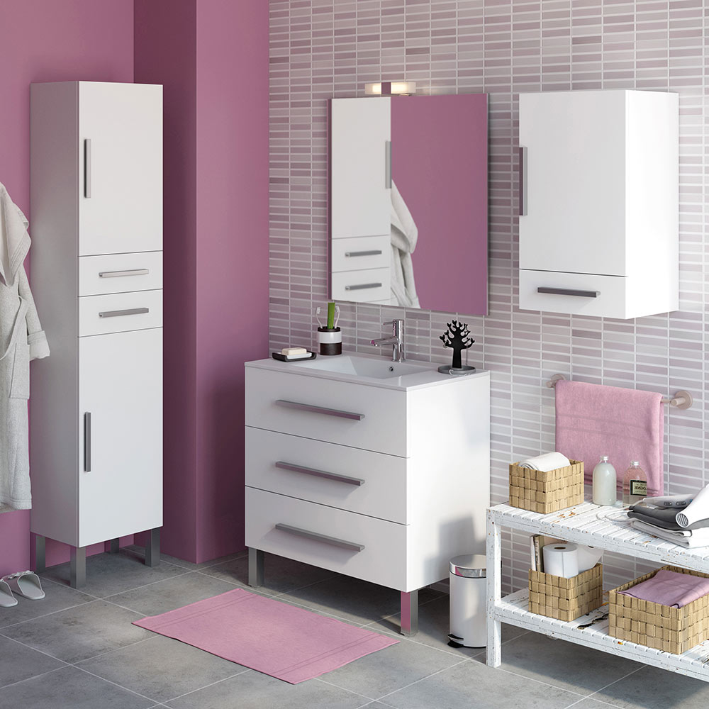 Mueble de lavabo madrid ref 18105444 leroy merlin for Muebles leroy merlin