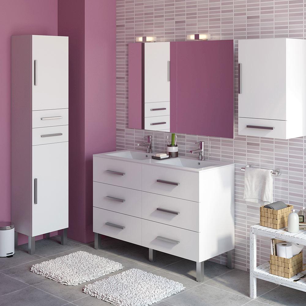 Mueble de lavabo madrid ref 18209373 leroy merlin for Mueble auxiliar lavabo