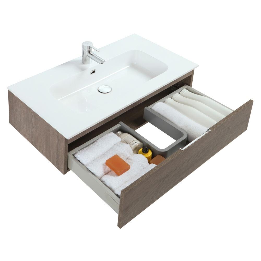 Conjunto de mueble de lavabo modul ref 18702896 leroy for Conjunto mueble lavabo