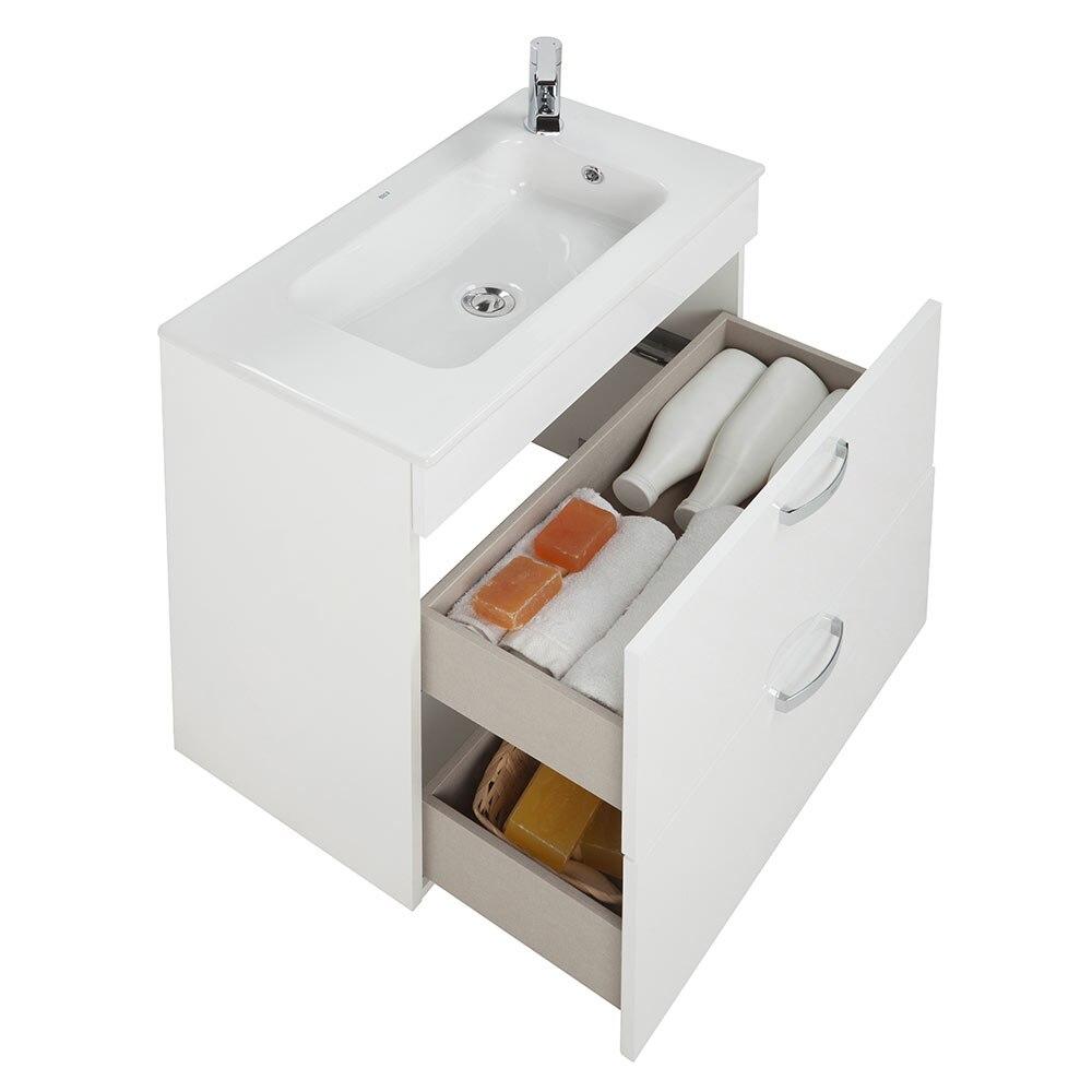 Conjunto de mueble de lavabo roca nadi ref 19144125 for Muebles de lavabo de 70 cm