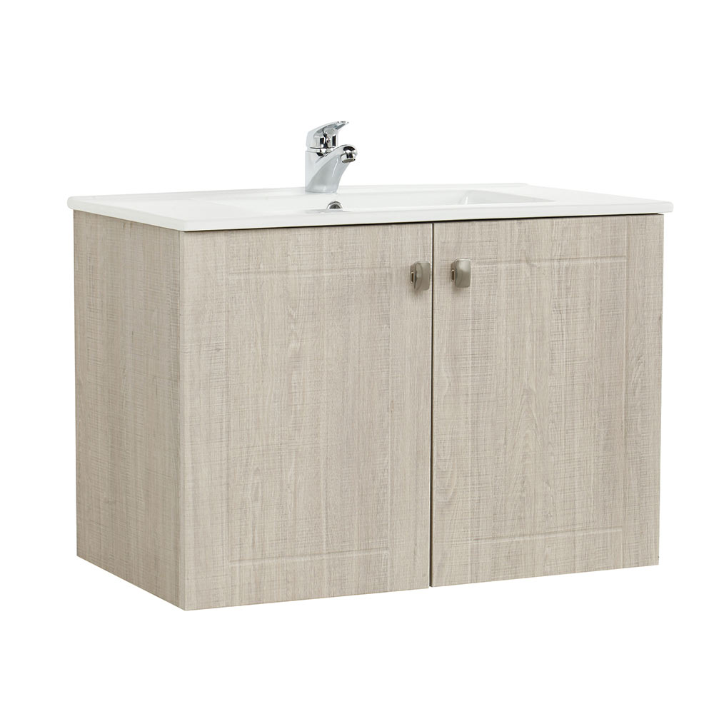 Mueble de lavabo nature ref 17710133 leroy merlin - Lavabo colonne leroy merlin ...